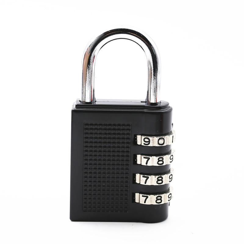 Dial Digit Combination Lock Suitcase Luggage Password Lock Padlock  Home Dormitory black