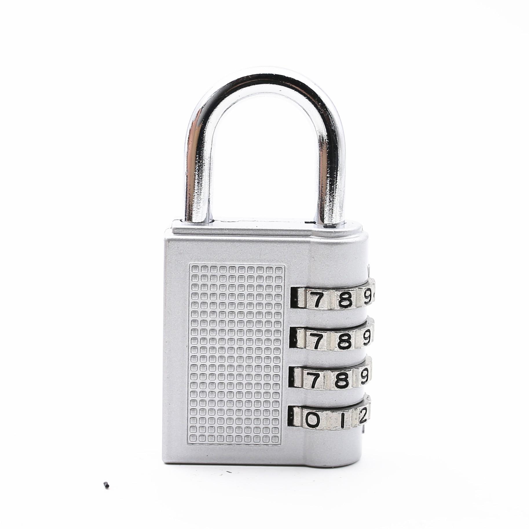 Dial Digit Combination Lock Suitcase Luggage Password Lock Padlock  Home Dormitory Silver