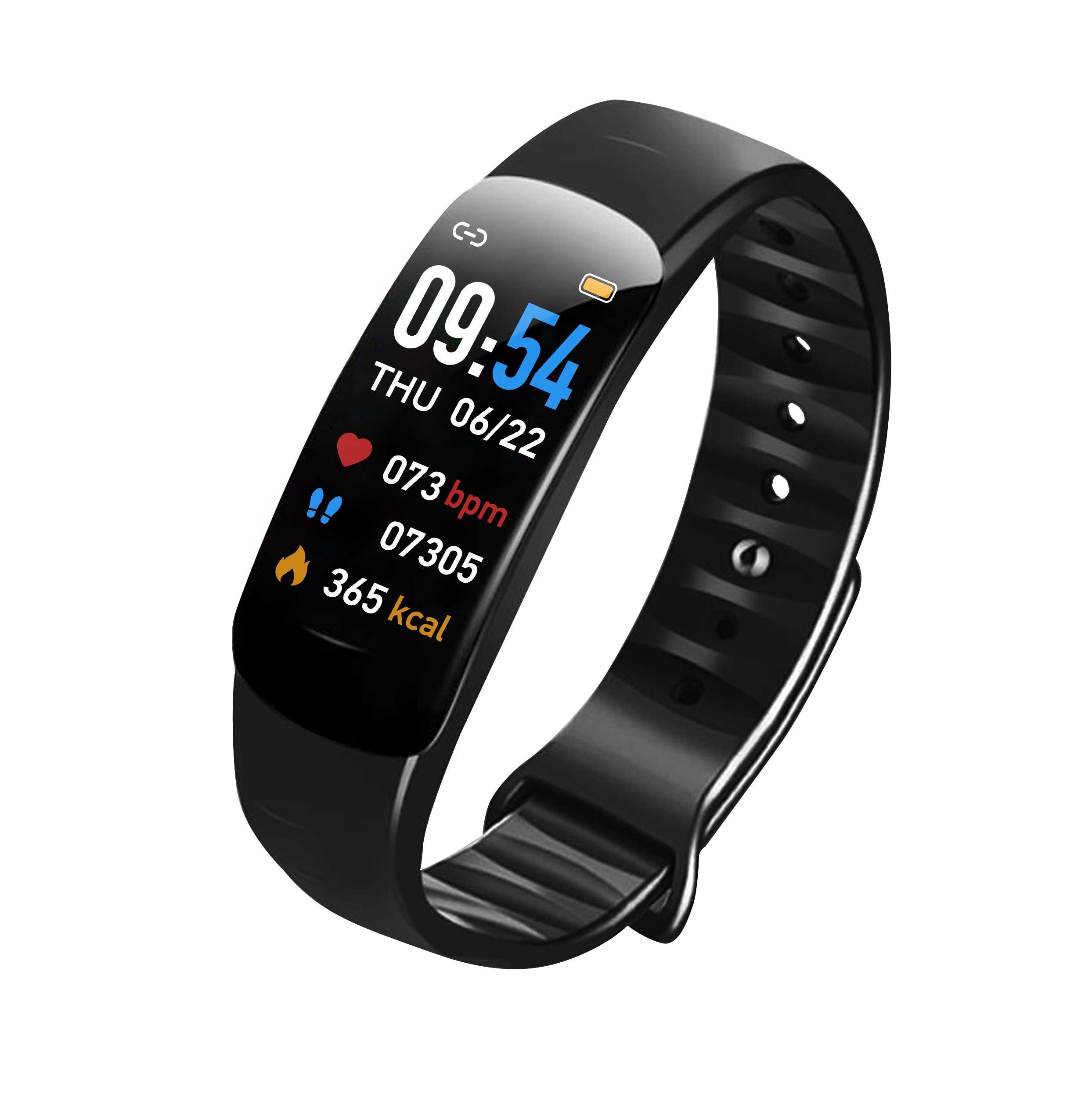 Fitness Bracelet Smart Watch Wristband Pedometer Heart Rate Monitor Activity Tracker smart bracelet black