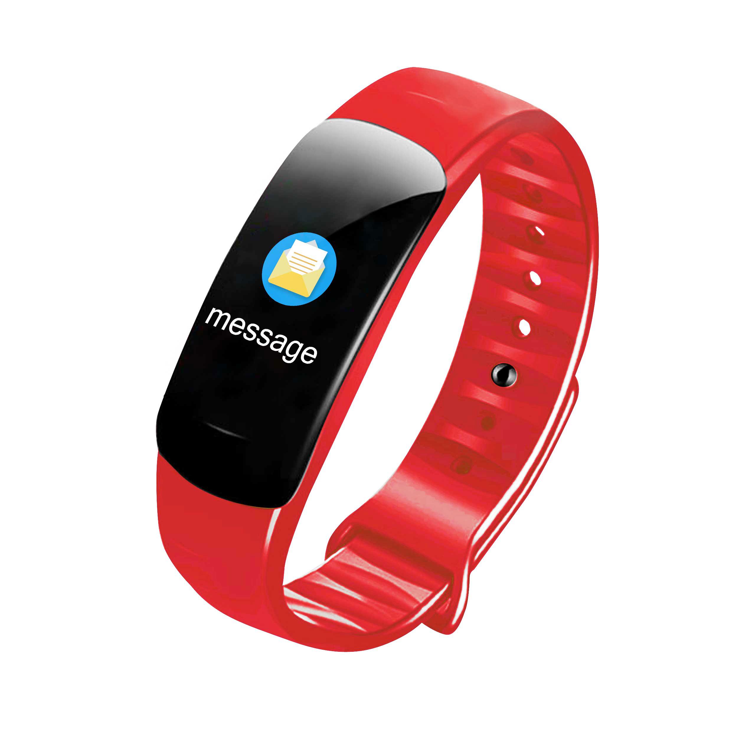 Fitness Bracelet Smart Watch Wristband Pedometer Heart Rate Monitor Activity Tracker smart bracelet red