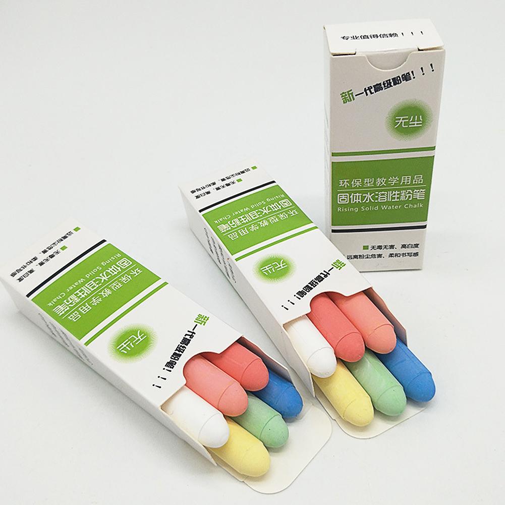 6pcs/set Colorful Water-soluble Dustless Chalk Erasable Solid Chalk 6pcs/set