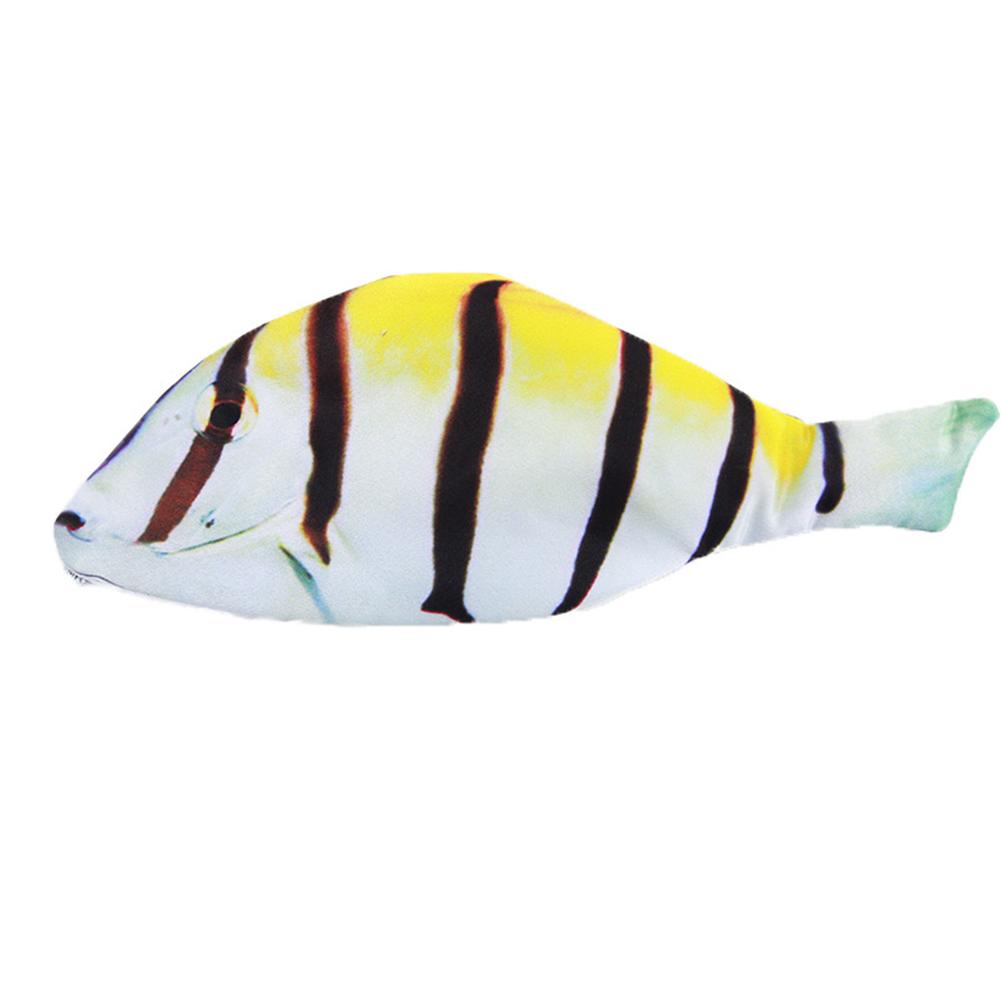 Fashion Fish Shape Pencil Bag Stationery Storage Case Striped fish_27*11