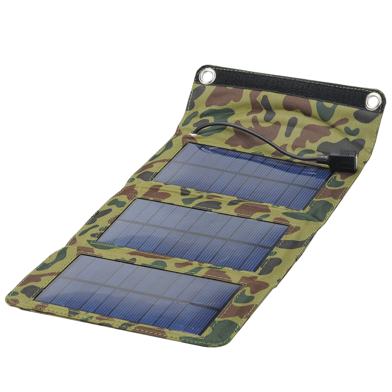 Camouflage Army Style Folding Solar Panel