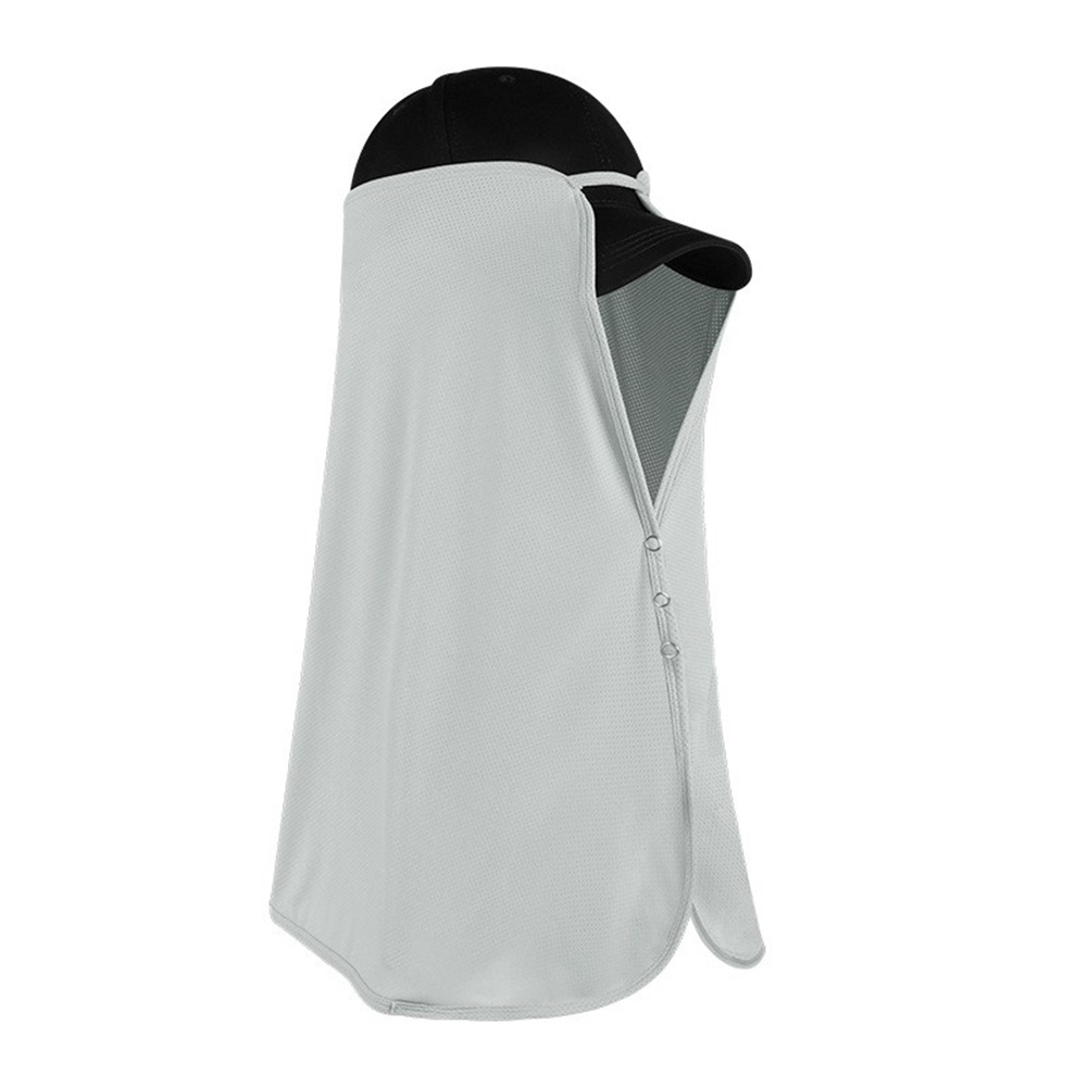 Ice Silk Sun Visor Face  Cover Sunscreen Shawl Face For Outdoor Activities Space gray