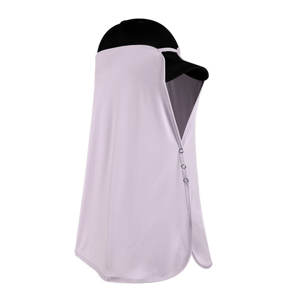 Ice Silk Sun Visor Face  Cover Sunscreen Shawl Face For Outdoor Activities Lavender Purple