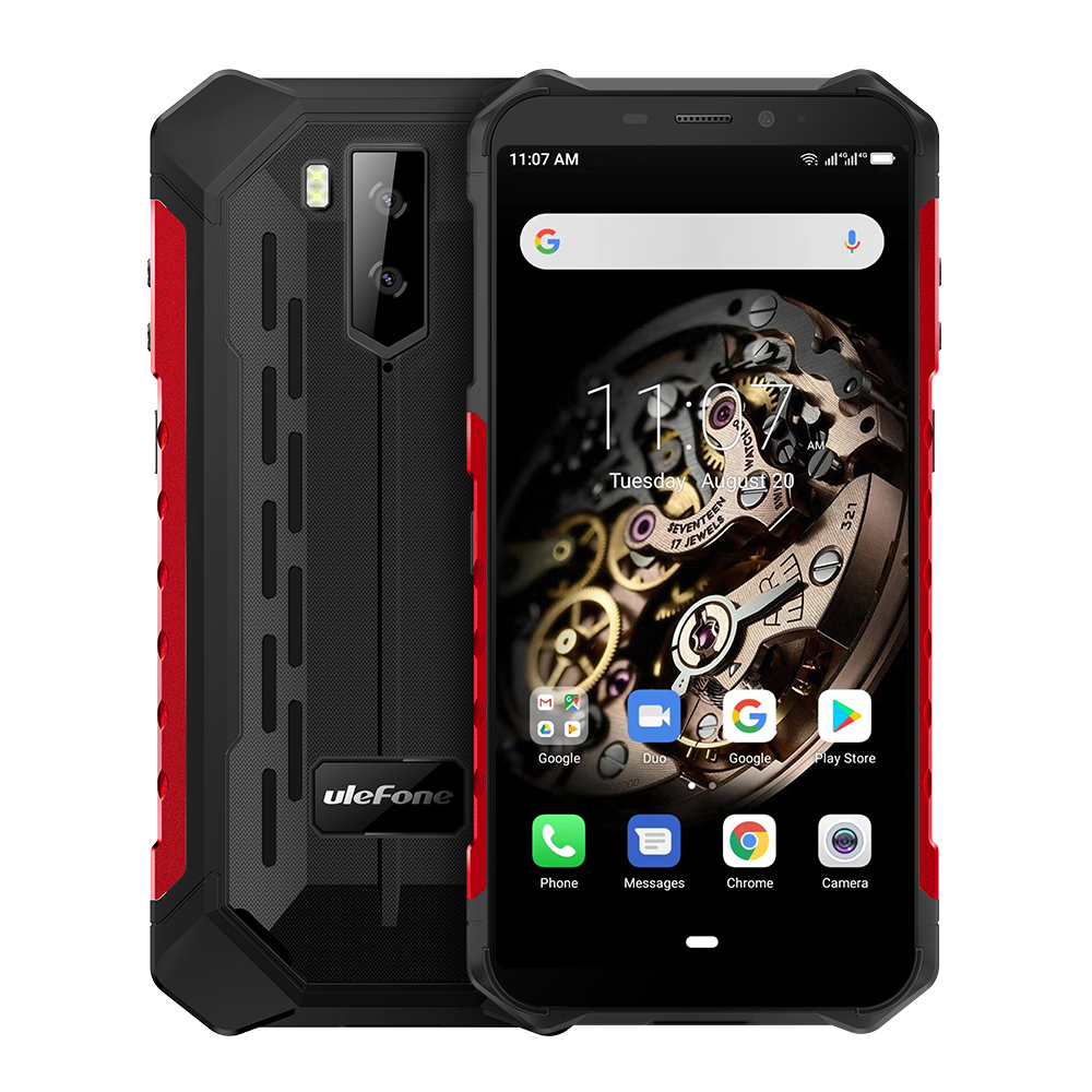 Ulefone Armor X5 MT6763 Octa core ip68 Rugged Waterproof Smartphone Android 9.0 Cell Phone 3GB 32GB NFC 4G LTE Mobile Phone red_Non-European