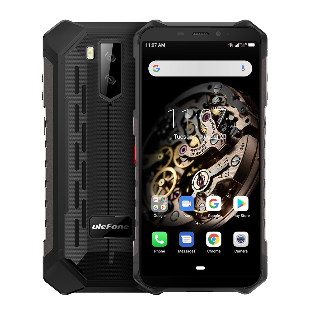 Ulefone Armor X5 MT6763 Octa core ip68 Rugged Waterproof Smartphone Android 9.0 Cell Phone 3GB 32GB NFC 4G LTE Mobile Phone black_Non-European