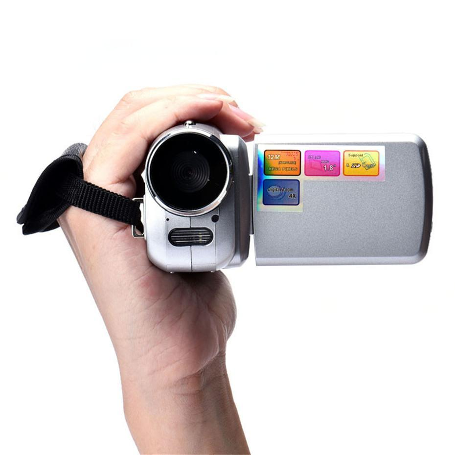 Handheld Home Digital Video Camera Camcorder DV 16x Digital Zoom HD 1080P Night Vision Recording Camera Silver grey
