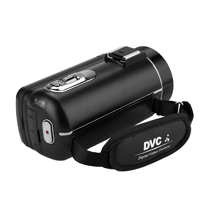 1080p Handheld Camera Kit - Teleconverter, Wide-Angle Lens, External Mic, 1/4-Inch CMOS, 3 Inch Display, 120x Digital Zoom