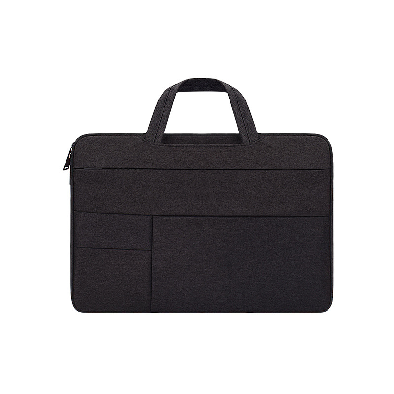 Simple Laptop Case Bag for Macbook Air 11.6 inches, 12.5 inches, 13.3 inches, 14.1 inches Notebook Handbag   Black_14.1 inch