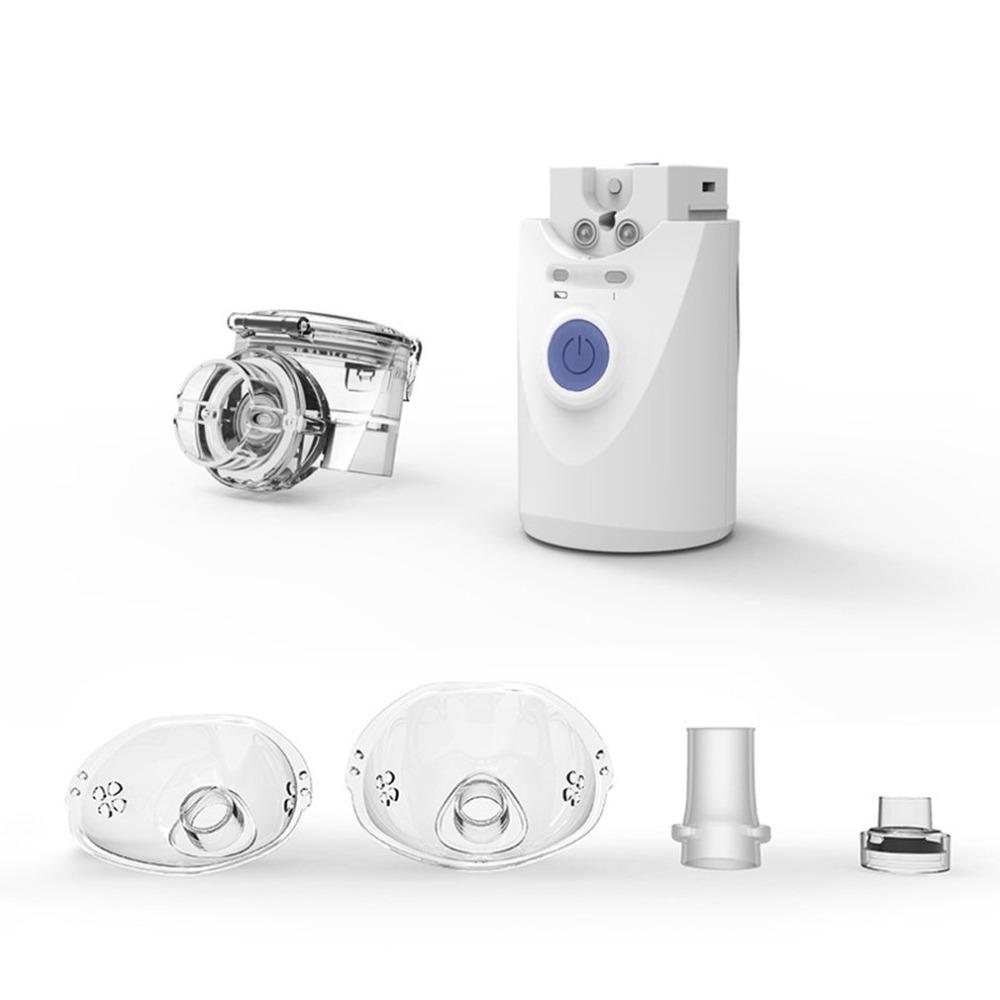 Portable Ultrasonic Atomizer Mini Handheld Inhaler Facial Humidifier Noiseless Inhaler Machine white