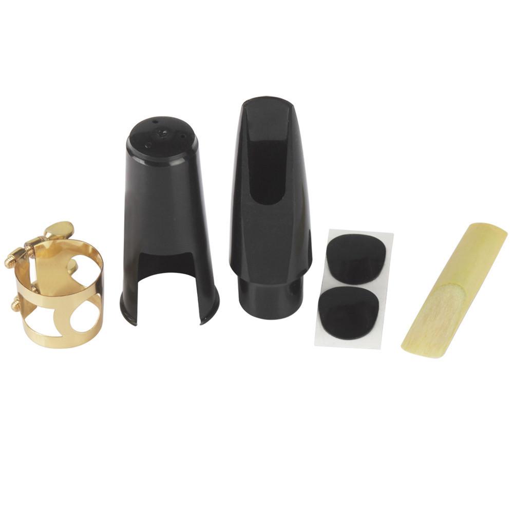 5pcs Set Saxophone Mouthpiece+Clip+Clip Cap+Reed+Dental Pad for Alto/Tenor/Soprano Sax Musical Instrument Accessories Alto saxophone