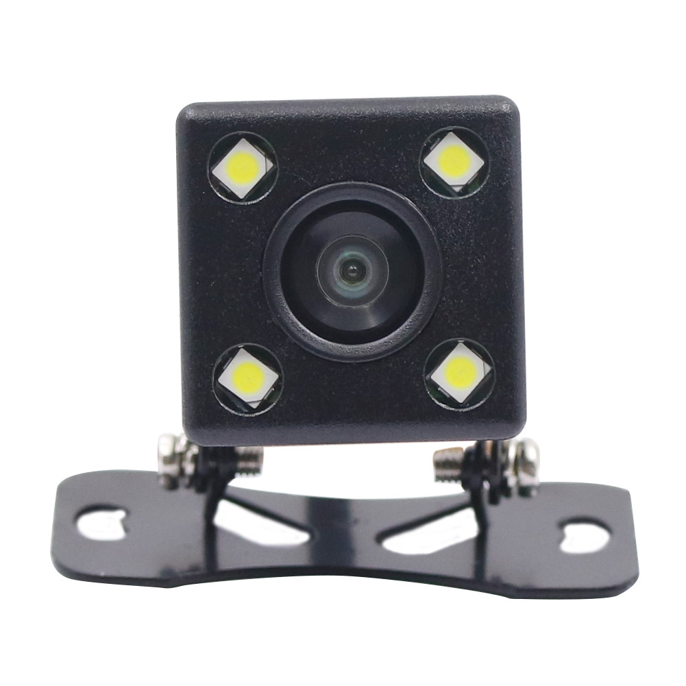 Car Frontview Rearview Camera Night Vision Diving Reverse Parking Wide Angle Cam Recorder black