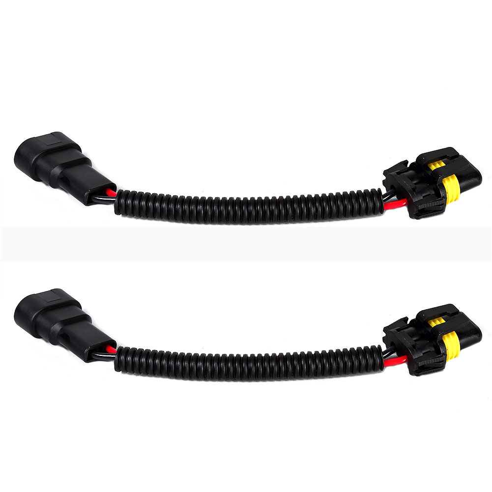 2Pcs 900 Male Female Wire Harness Extension Socket Adapter for Headlights