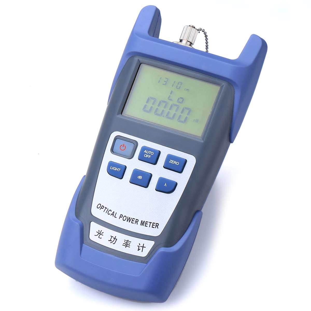 Portable FTTH Fiber Optical Power Meter -70~+10dB Optic Cable Tester Network with FC SC Interfaces for CATV Test,CCTV Test and Telecommunication  blue