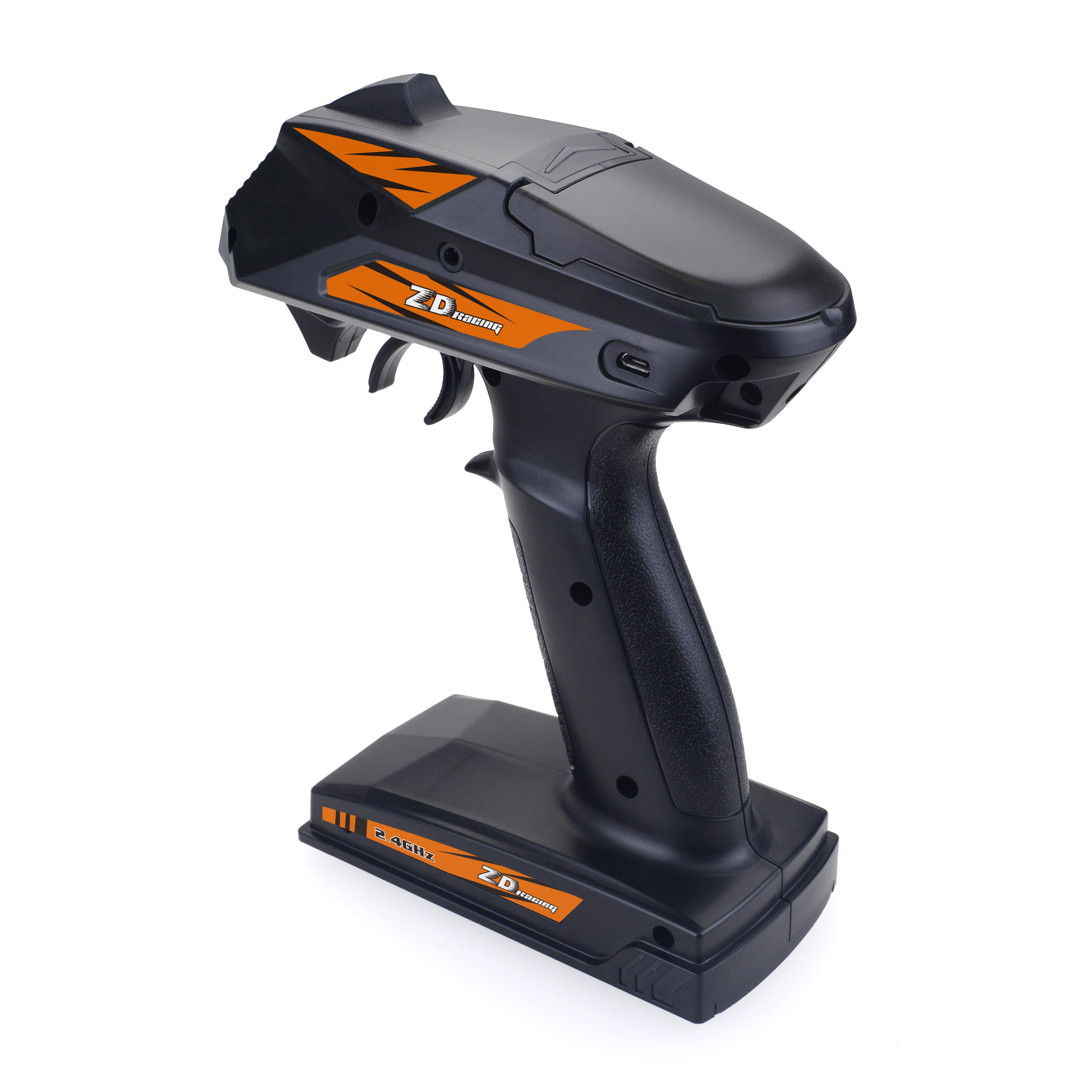 ZD Racing 8277 2.4Ghz 4-Channel Radio with Receive for RC Toy black