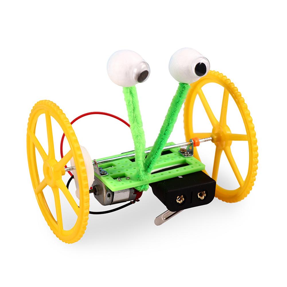Children Technology Balancing Robot DIY Disc Wheel Tire Car as shown