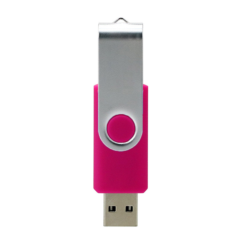 Swivel Usb 2 .0 1.0  Flash Drive Concise Portable U Disk L18 High Speed U Disk Pink_128G