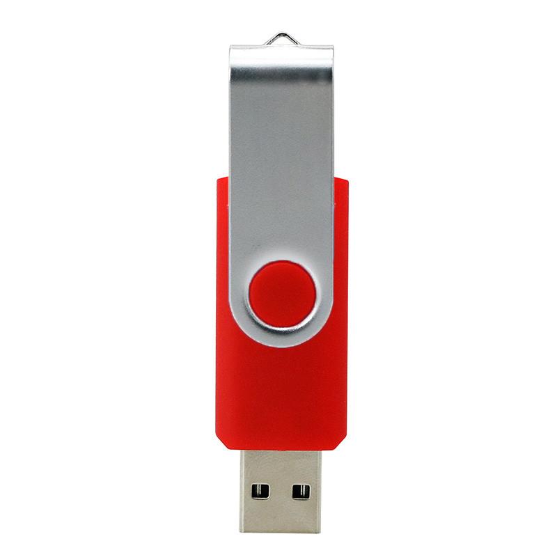 Swivel Usb 2 .0 1.0  Flash Drive Concise Portable U Disk L18 High Speed U Disk Dark red_8G