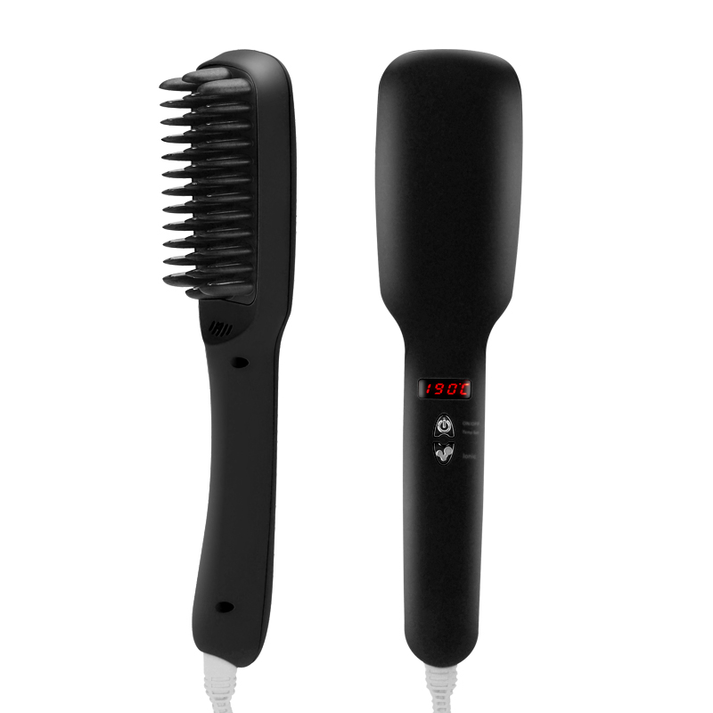 Ionic Hair Straightener and Brush (Black)