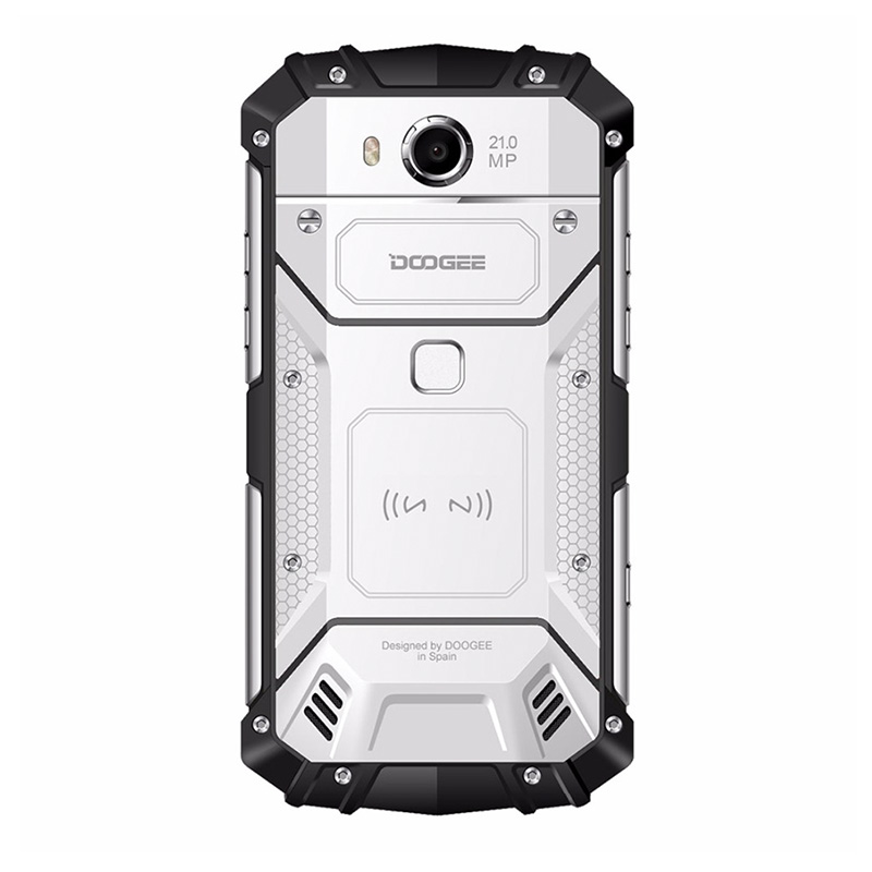 HK Warehouse Doogee S60 Android Phone - Octa-Core, Android 7.0, 6GB RAM, QI Wireless Charging, 1080p, 21MP Cam (Silver)