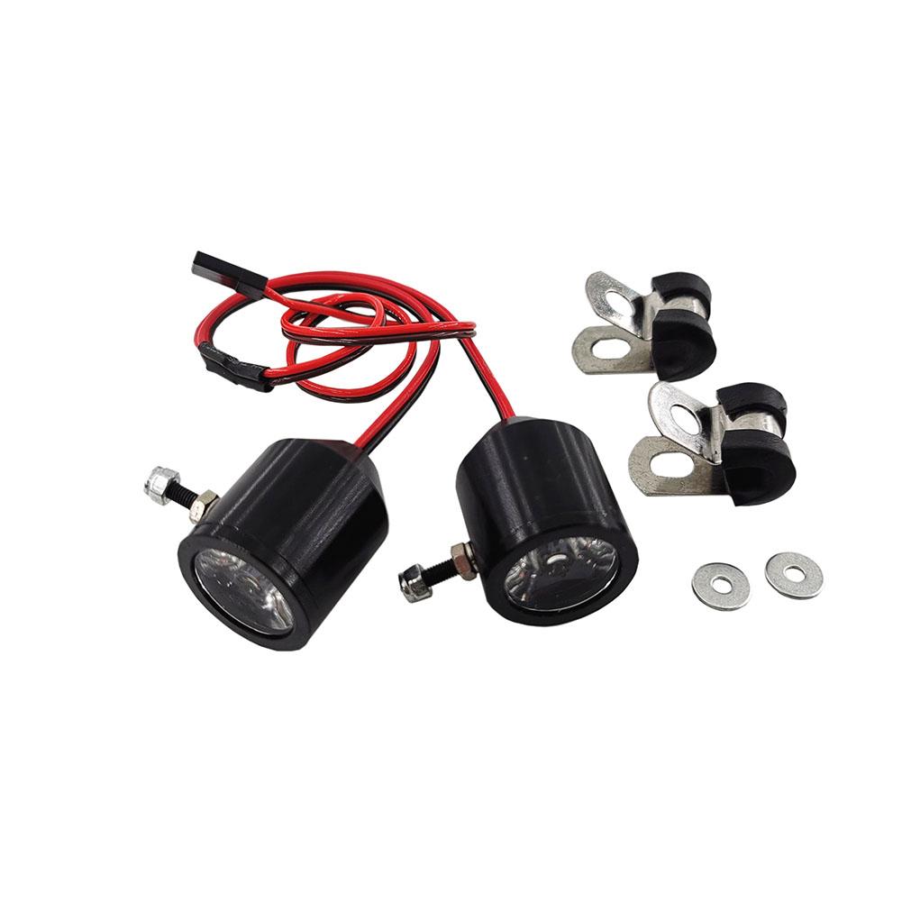 1 Pair 3W Metal Lamp LED Lights 5-12V for Traxxas Slash REVO E-REVO X-MAXX RC Crawler Car Truck RC Car DIY Part default