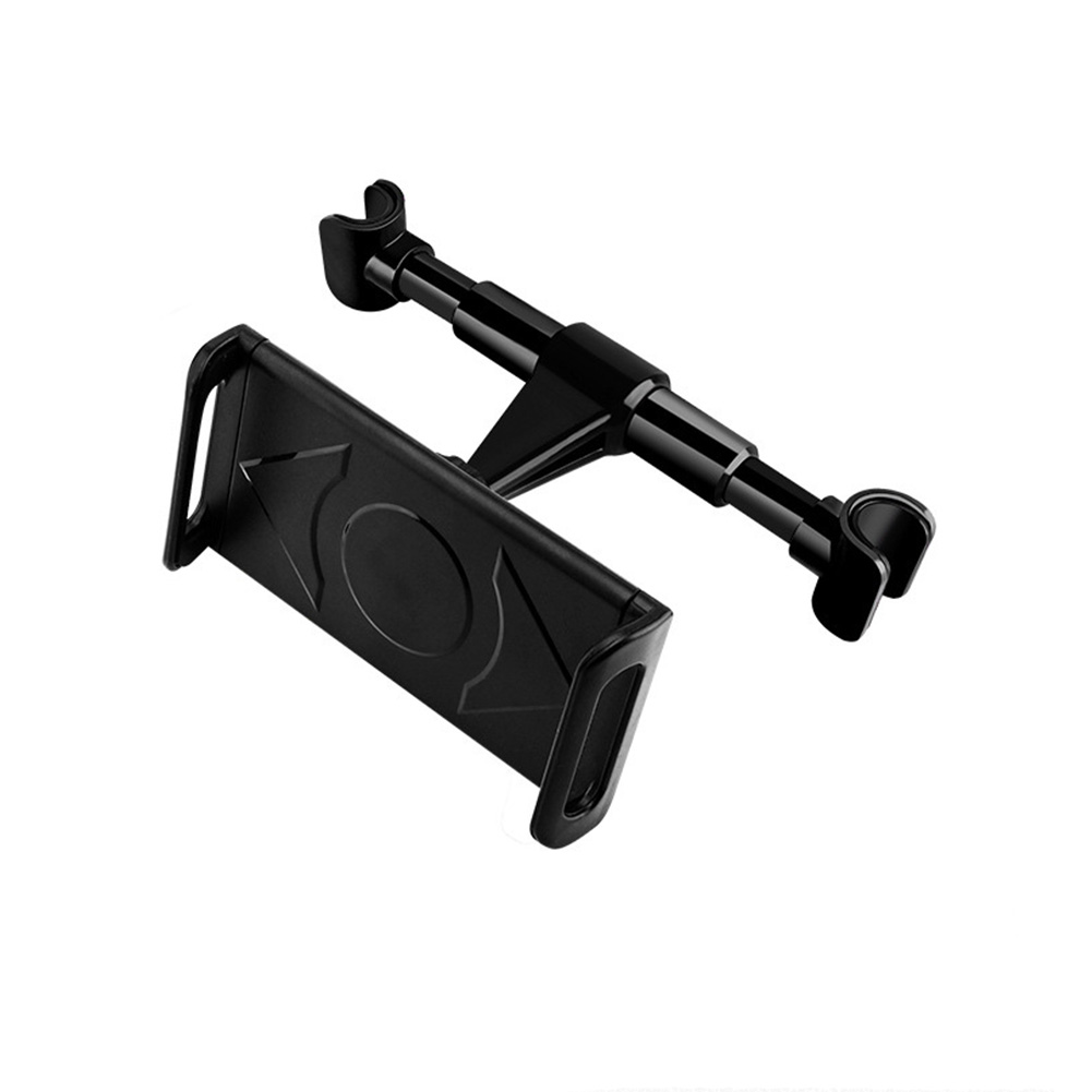 Car Headrest Mount Tablet Headrest Holder Stand Cradle 360-degree Rotation Seat Back Pillow Bracket Black