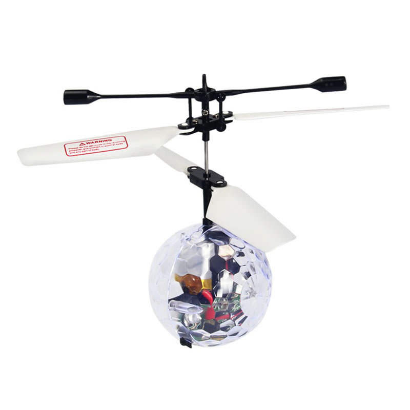 Kid's Flying Ball Luminous Flight Balls Electronic Intelligent Induction Toys LED Light Mini Helicopter Crystal ball sensor aircraft