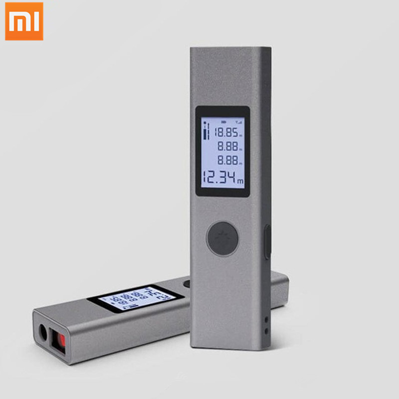 Original Xiaomi Duka Laser Rangefinder LS-P 40m USB flash Charging Precision Measurement Handheld Rangefinder Gray