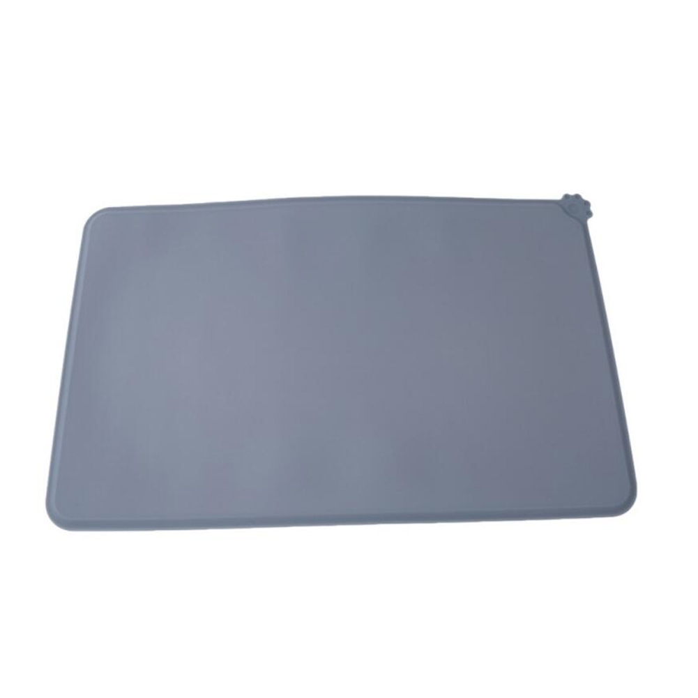 Cute Paw Designed Silicone Mat for Pet Puppy Dog Cat Feeding Bowl gray