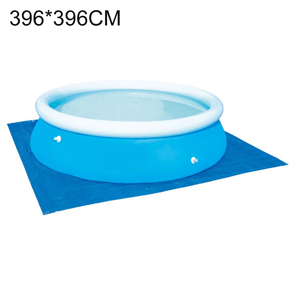 Swimming Pool Cover Placemat Cloth Square Frame Ground Pool Mat Family Garden Pools Swimming Pool Accessories blue_396 * 396CM