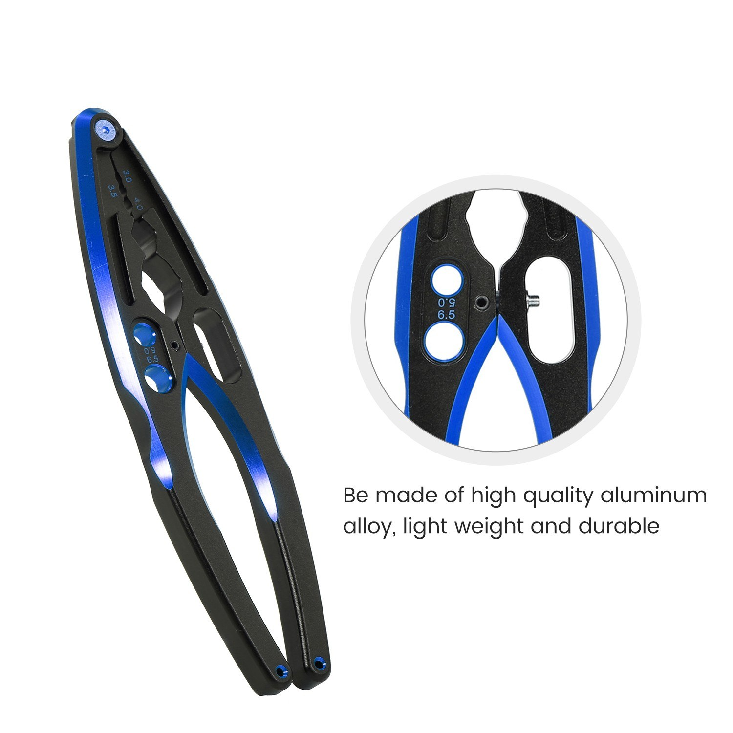 Multifunction Aluminum Alloy Shock Absorber Clamp Pliers Shock Absorber Assembly Disassembly Tool For 1/10 1/8 Traxxas Hsp Rc Blue