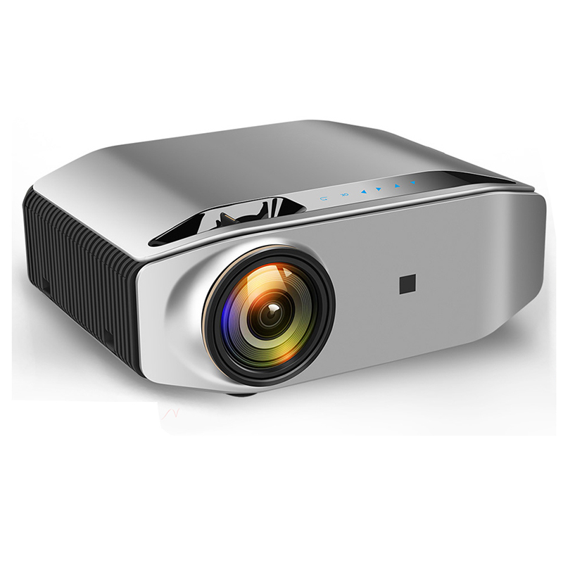 Mini Digital Projector 1080P High Definition LED Home Business Office Projector Portable Space gray_US Plug