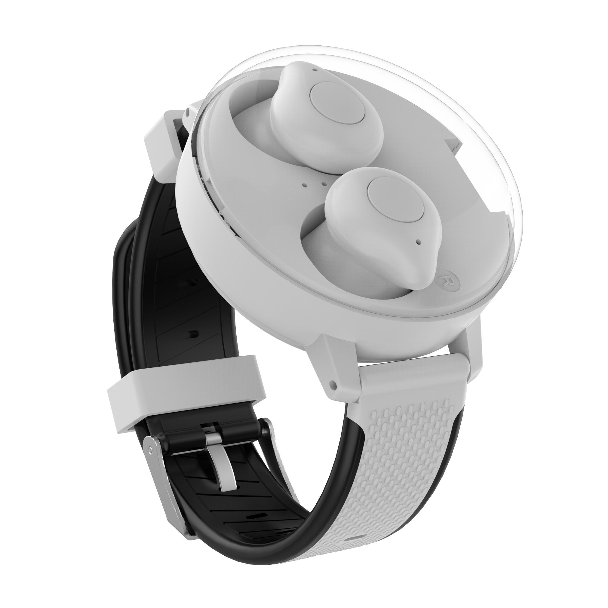 Bluetooth TWS Stereo Wireless Headphones 5.0 Charging Headset for Running white