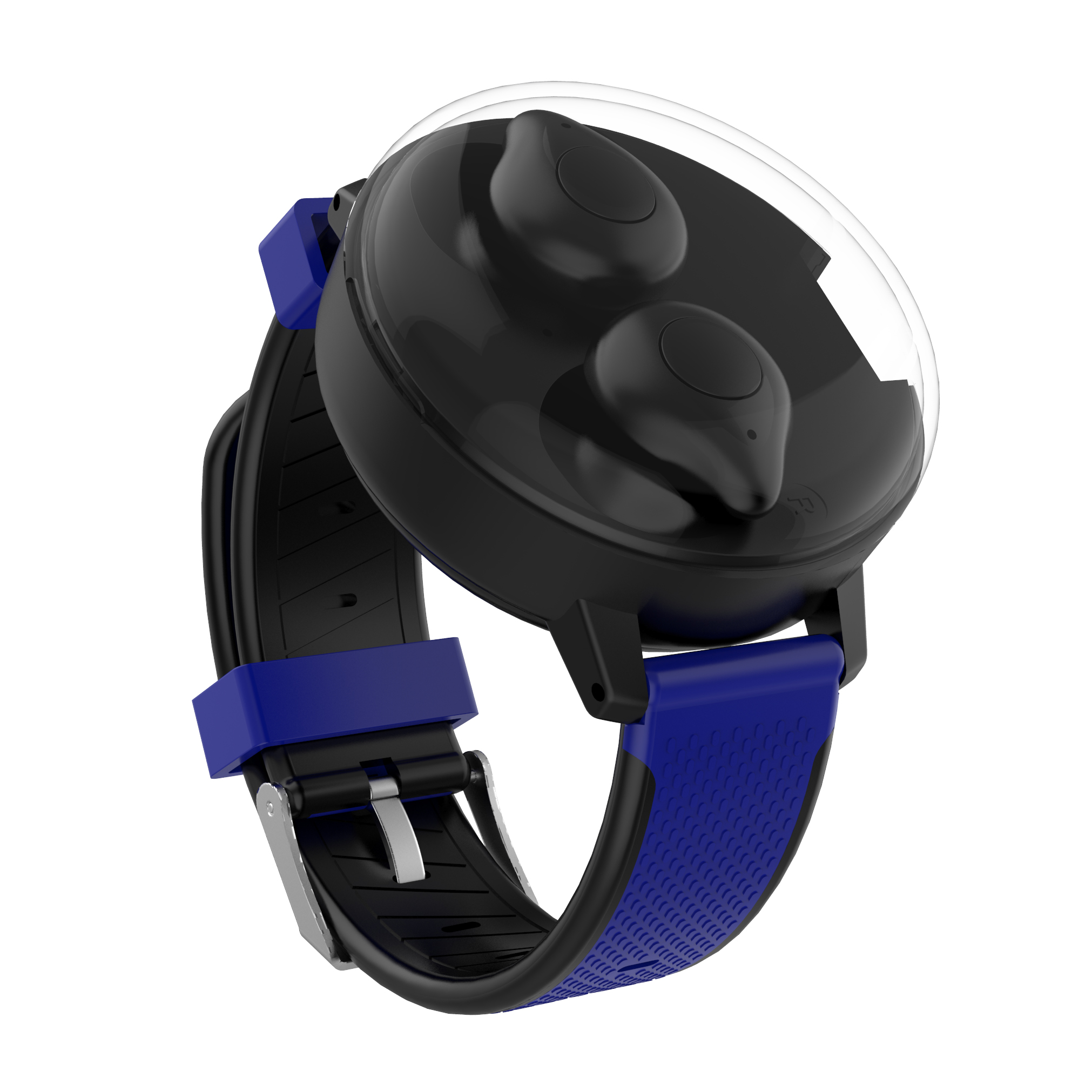 Bluetooth TWS Stereo Wireless Headphones 5.0 Charging Headset for Running blue