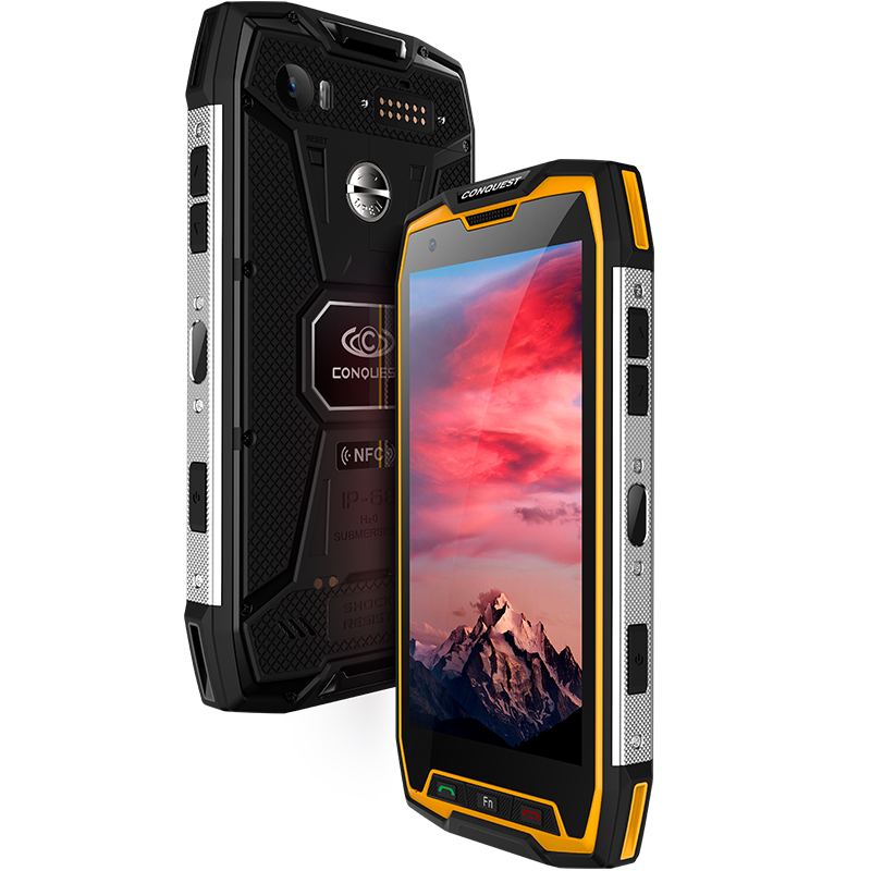 Conquest S9 Rugged Smartphone 6+64 Yellow