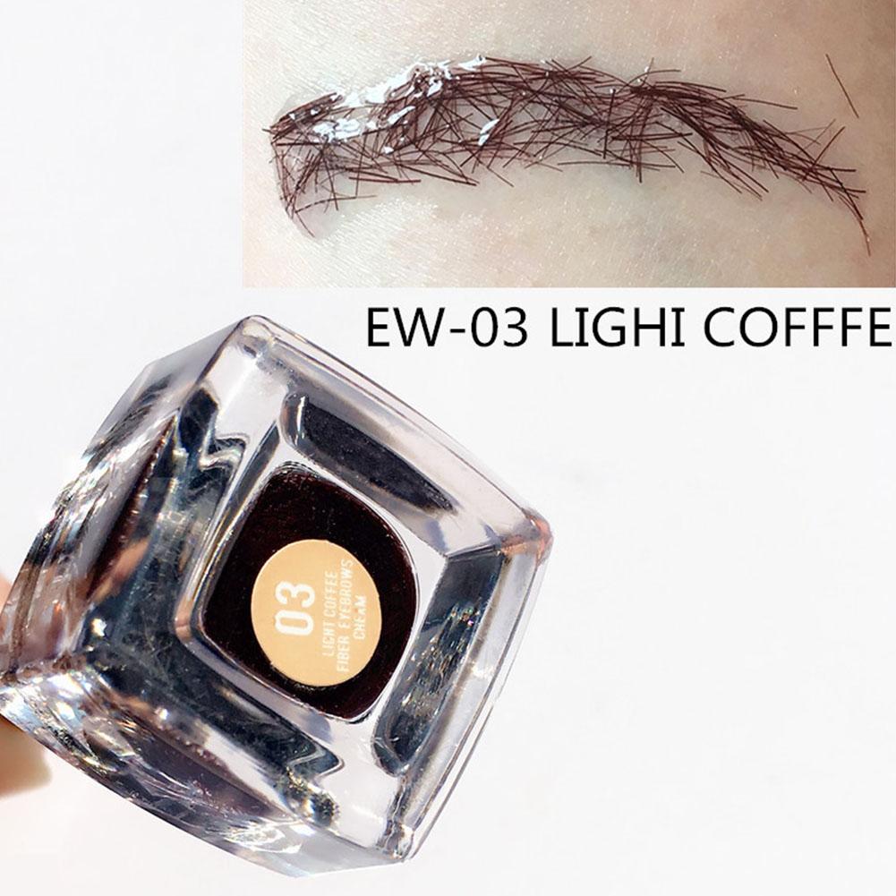 Eyebrow Fiber Cream Portable Lasting Waterproof Eyebrow Cream