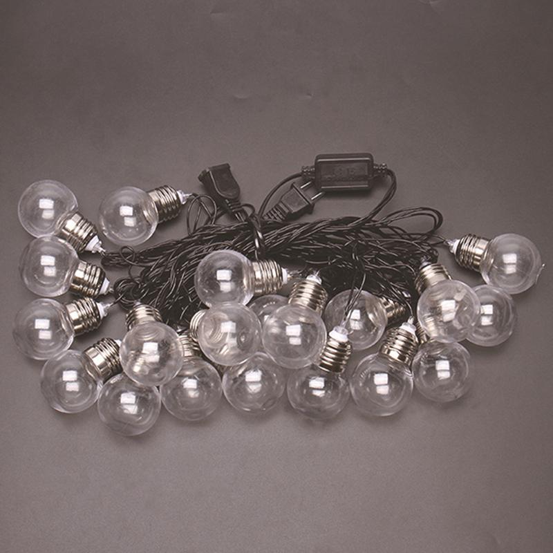 6M 20 LED Light Waterproof Flexible LED String Colored Light Xmas Birthday Wedding Garden Decoration 110V US regulation warm white