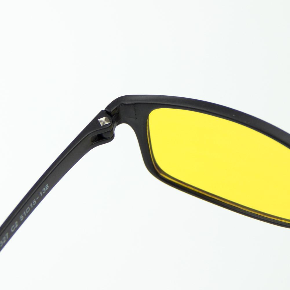 [US Direct] Cyxus Anti Blue Light Computer Glasses for Blocking UV Eye Strain Headache, Reading Eyewear (8065T01, Bright Black) Block Droplets Yellow Lens_M