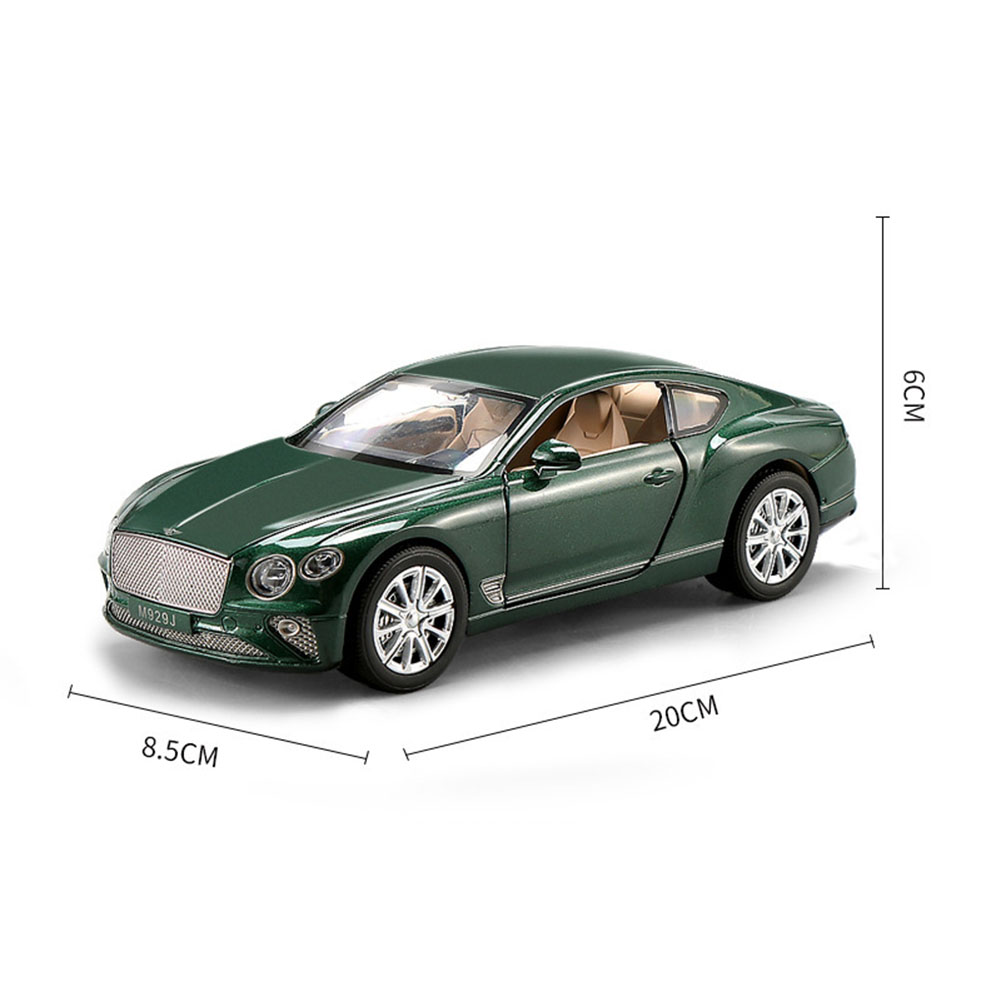 GT Racing Car Model Toys Music Light Pull Back Car for Children  green