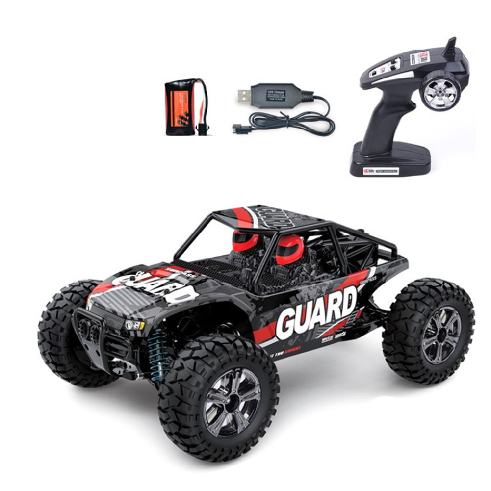 1/14 Electric 2.4GHZ BG1520 4 Wheels Drive Metal Differential Straight Bridge Remote Control Car Toy red