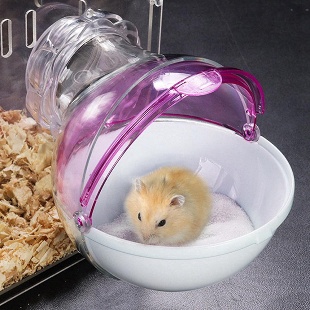 Mini Round External Bathroom for Pet Hamster Cage Random Color random_15 * 13 * 11cm