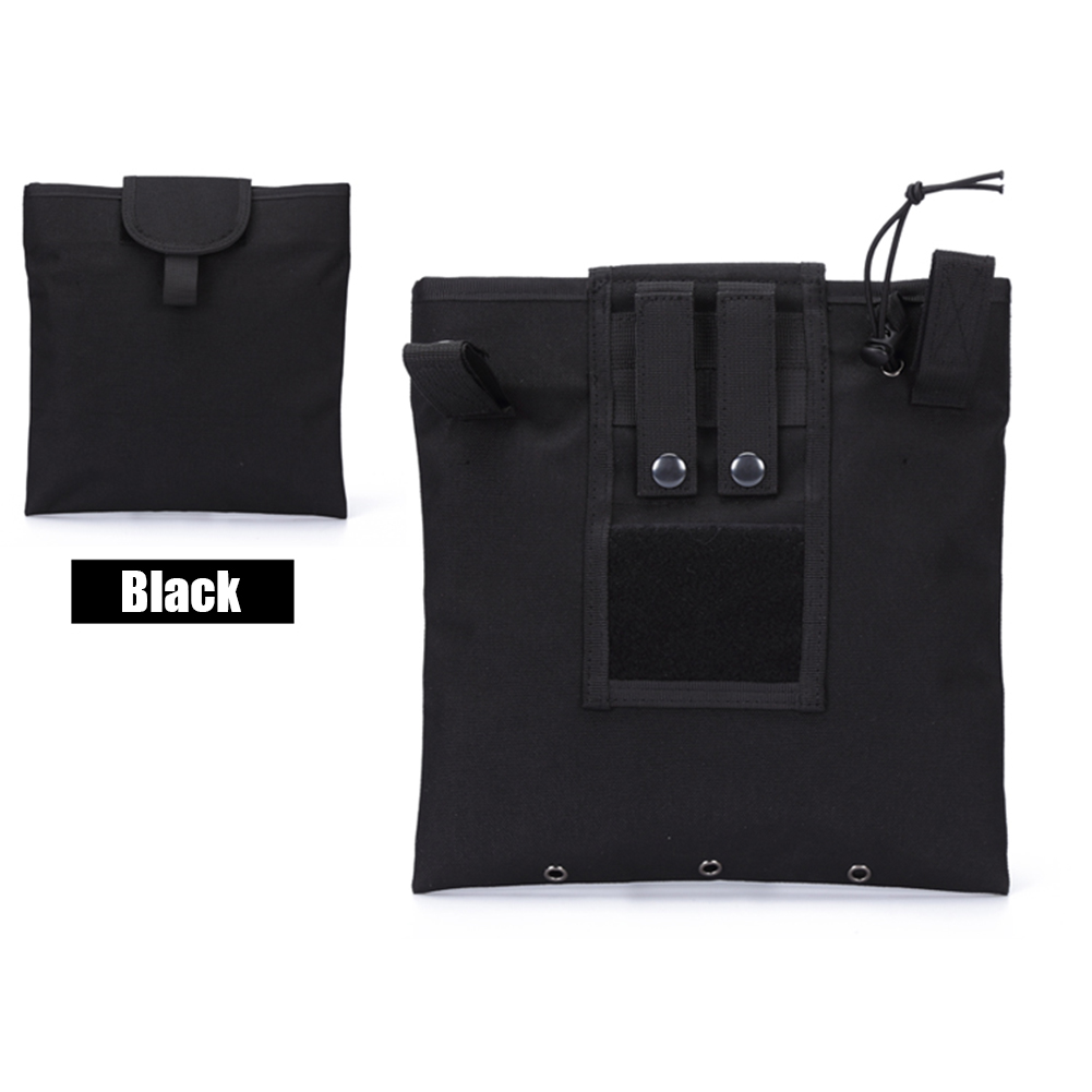 FGJ Molle Recycling Storage Bag Outdoor Multifunctional Package Magazine Dump Pouch black_23cm*29cm