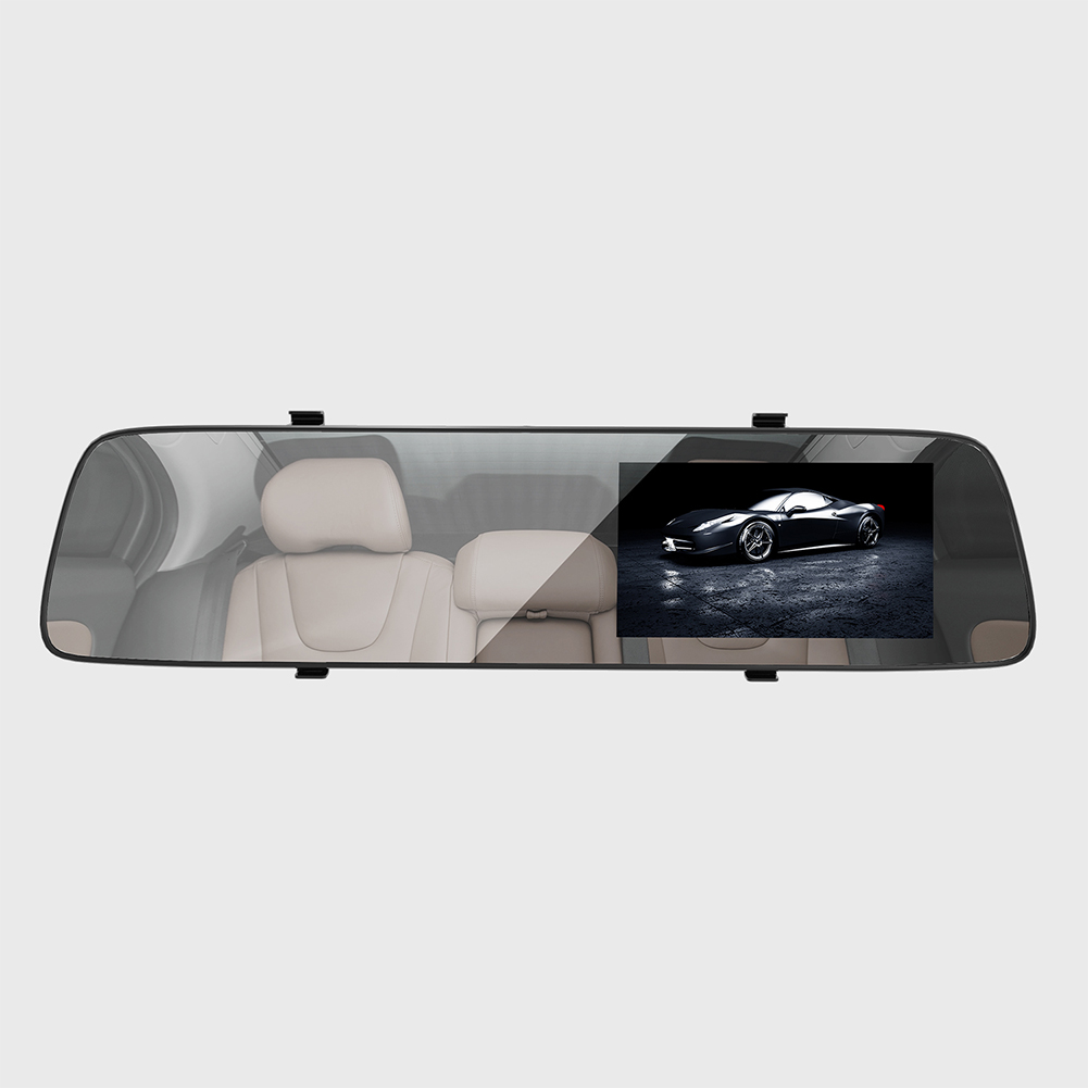 A5 4.5 Inch IPS Screen Full HD Car DVR Camera Auto Front Rearview Mirror Digital Video Recorder Camcorder black