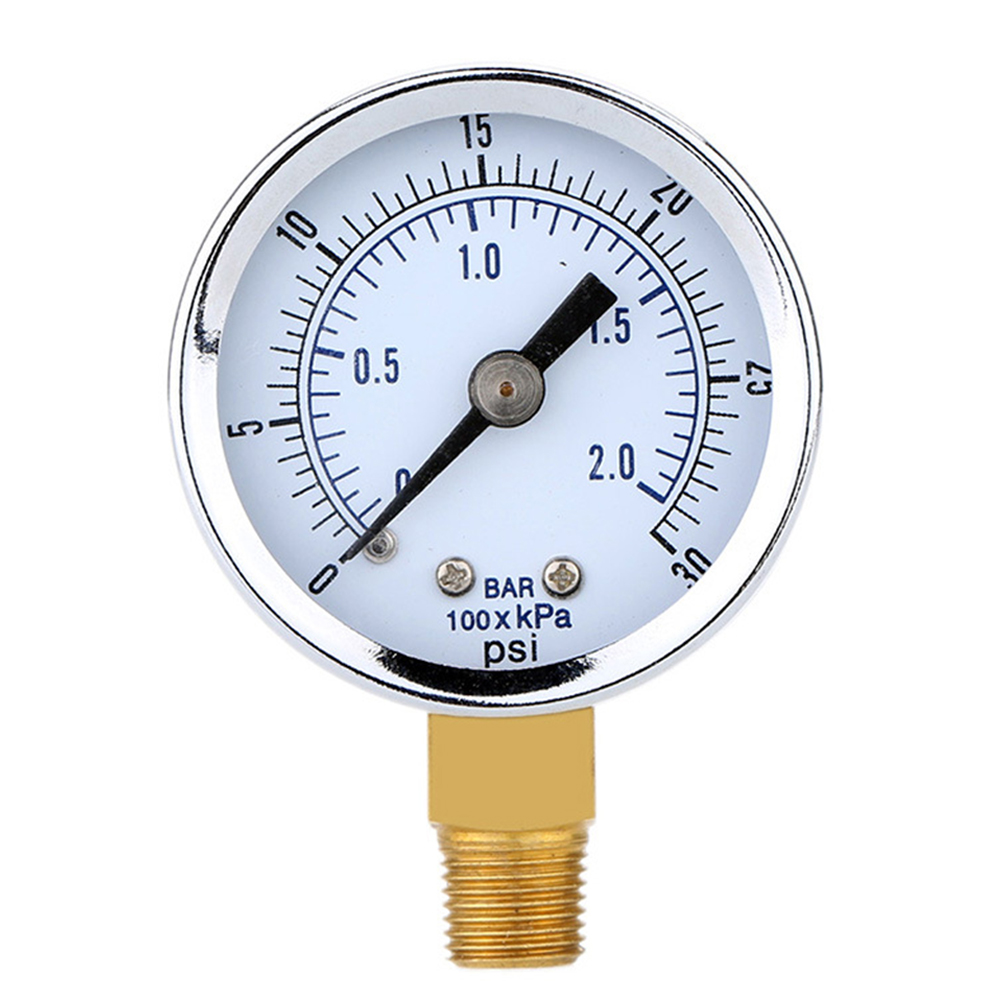 0~30psi 0~2bar Pressure Gauge with Double Scale 40 Diameter TS-Y50I