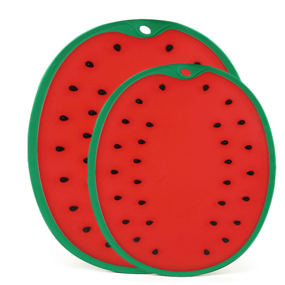Thicken Watermelon Shape Chopping Board for Home Vegetable Fruit Cutting Meat Cutting Mat small