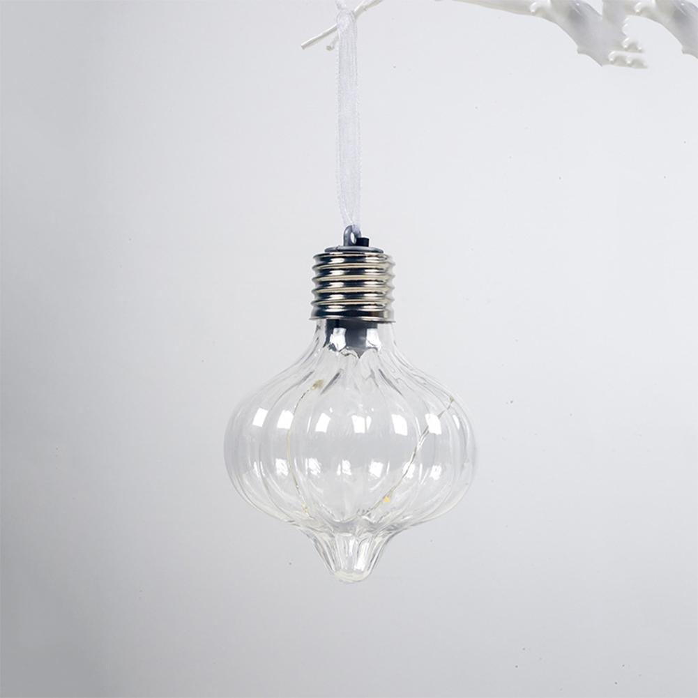 Christmas PET Special-shaped Lamp Christmas Ball Luminous Christmas Tree Lighting Decoration G section
