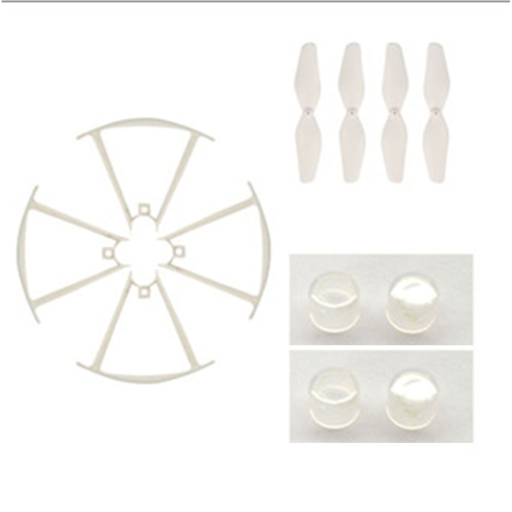 1 Set (Propeller + Protective Frame + Lampshade) Spare Parts for SYMA X22/X22W/X21/X21W RC Drone White