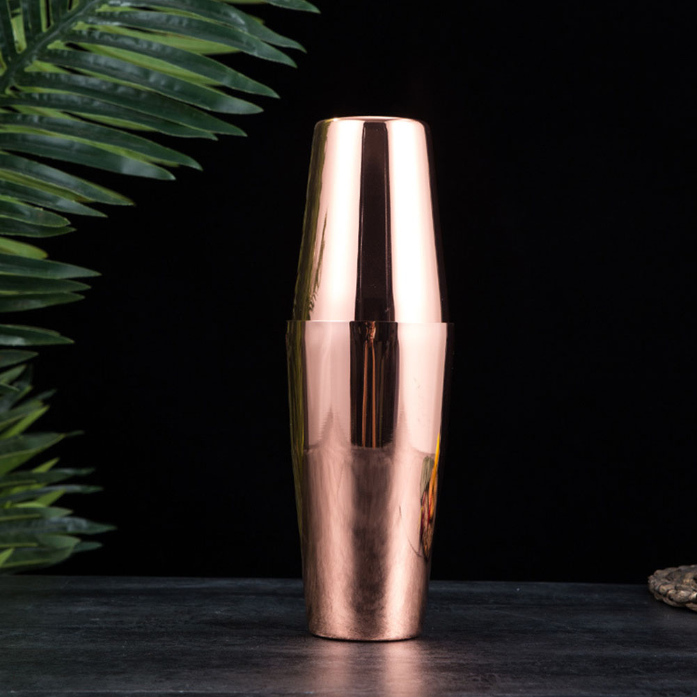Stainless Steel Shaker Shaky Cup Wine Mixer Cocktail Bartender Kettle Mixing Tin  Rose gold