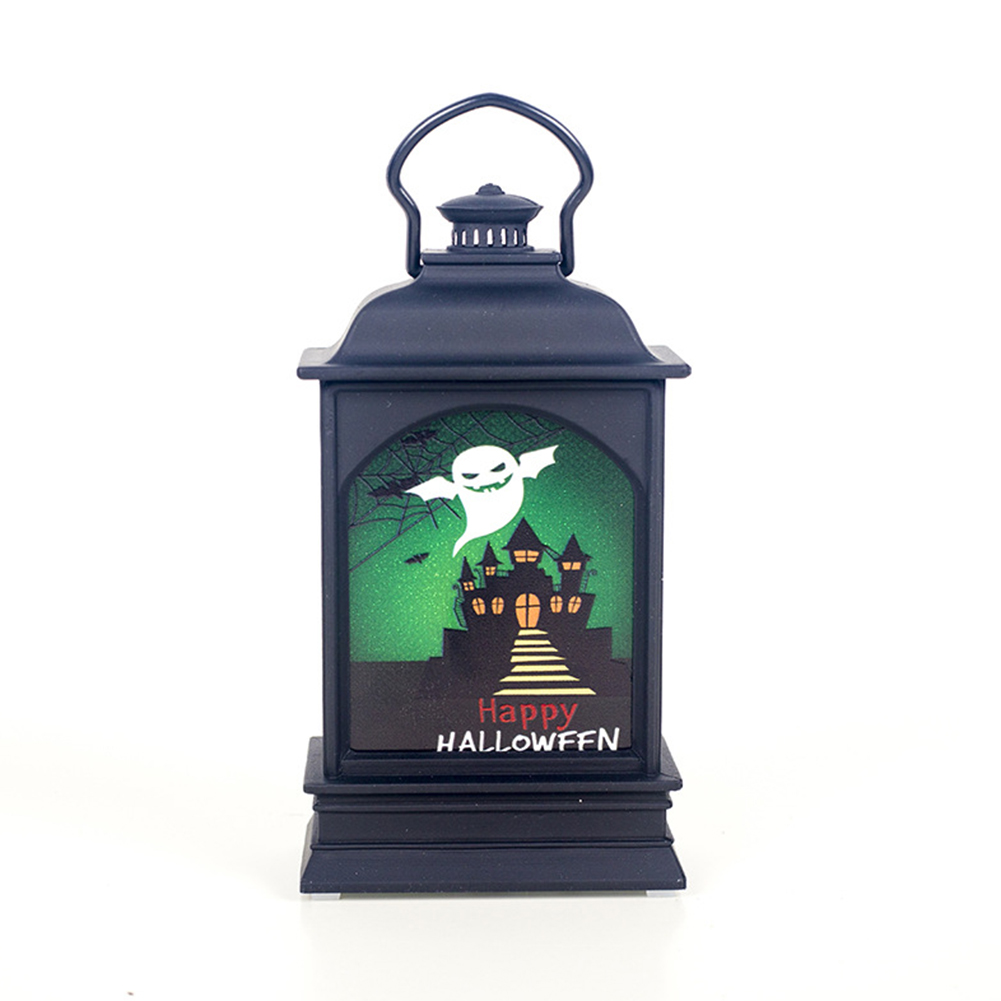 Color Painting LED Lantern Lamp Hanging Pendant for Halloween Decor Prop White ghost